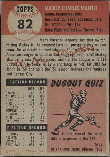 Topps 1953 Baseball Cards Bbc Emporium