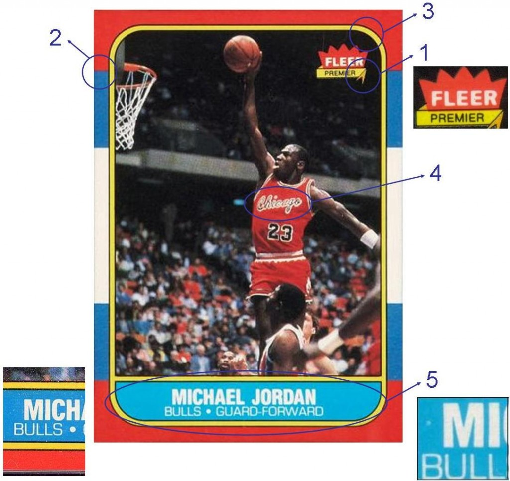 1986 Fleer Michael Jordan Counterfeit Guide Bbc Emporium